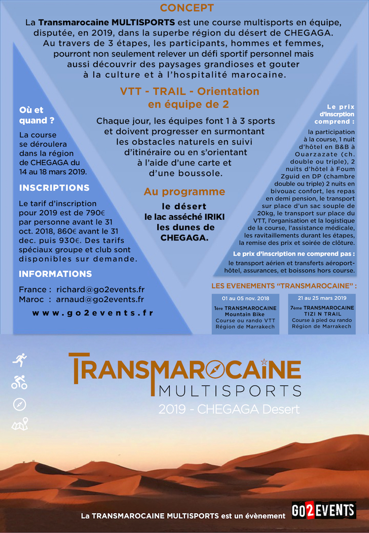 Flyer Transmarocaine Multisports 2019 verso - GO2EVENTS