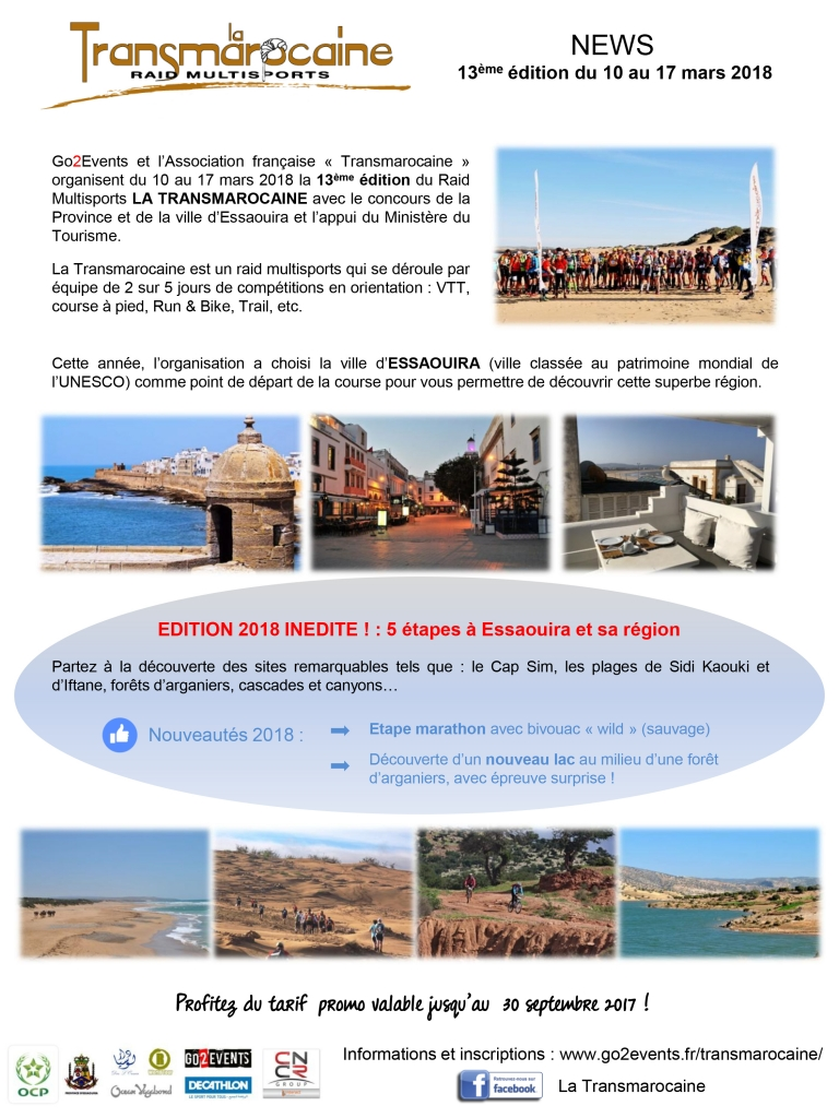 Transmarocaine 2018 - News - GO2EVENTS
