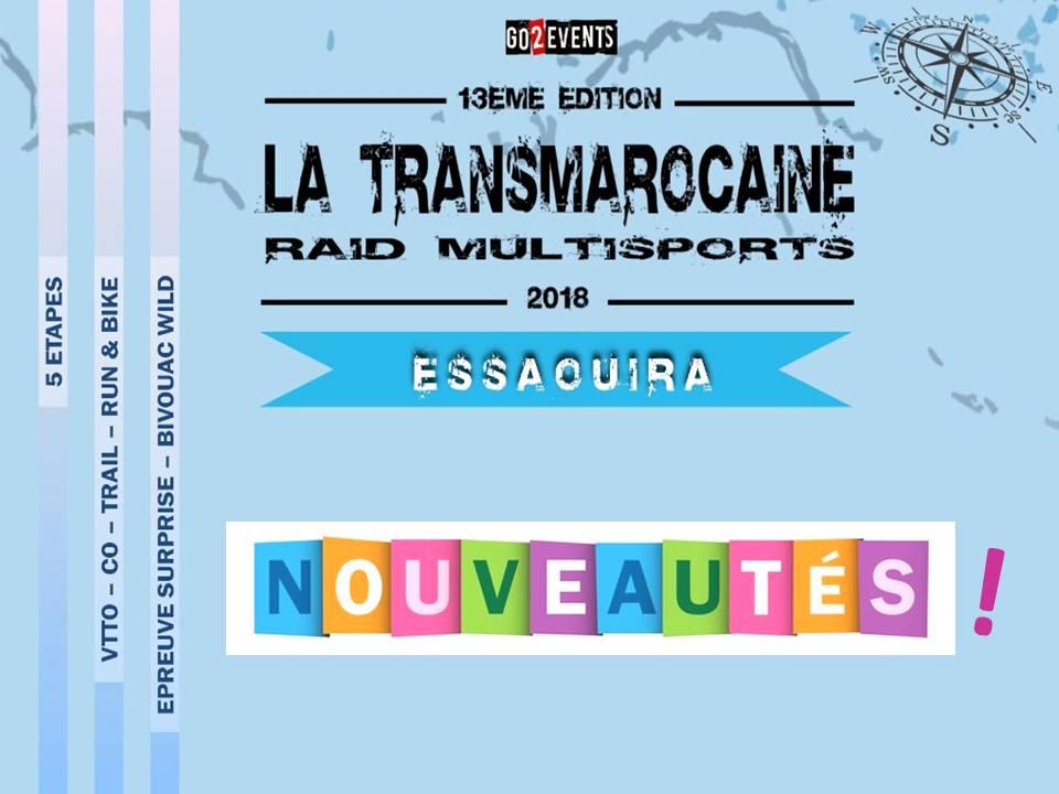 Nouveautés Transmarocaine 2018 - GO2EVENTS