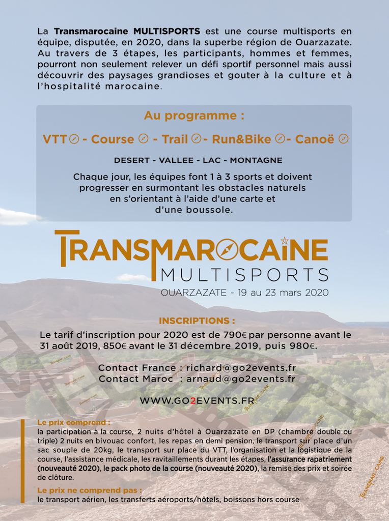 Flyer Transmarocaine Multisports 2020 - GO2EVENTS